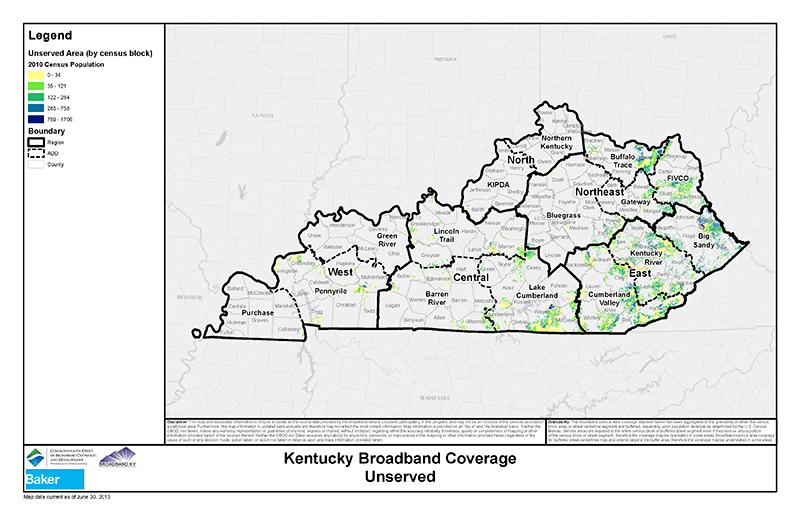 KY Broadband Coverage - Unserved